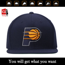 Custom Promotional Embossed Basketball Logo 3D Embroidery Sports Caps