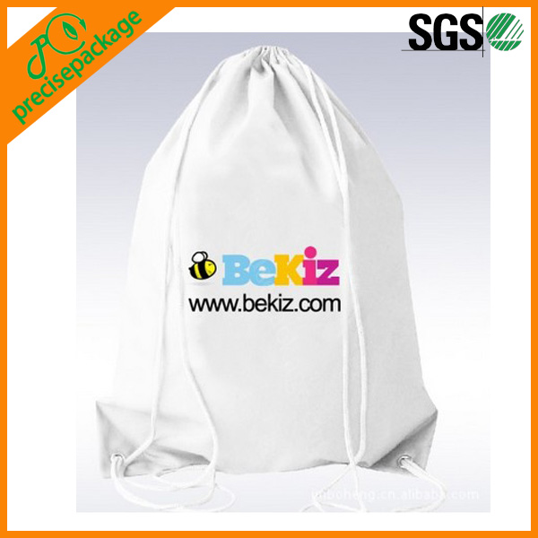 China high quality white customized cotton drawstring carry bags