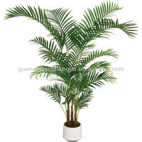 Sleek Realistic Newest artificial silk bamboo plant palm tree with happy price