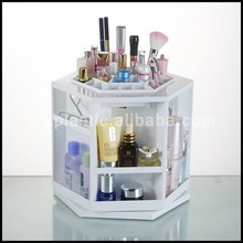 Made in China High quality White ABS big rotatable cosmetics display shelf wholesale
