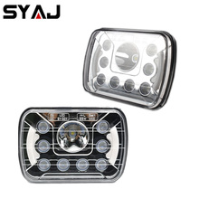 Kit car lights led headlights 6x7 5X7 inch 55W YC457N angel eyes motorcycle headlights for land rover defender 90 for lada niva