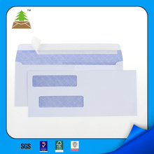 2017 hot sale #9 peel&seal Security tinted double window envelope