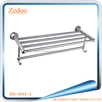 Zedoo ZD-8300-1 13 Pcs wall mounted chrome pleated bathroom accessories set