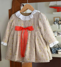Latest Design Kids Clothing Factories 2014 High Quality A Line With Sashes Style Autumn Baby Dresses Girl