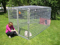 wholesale cheap large outdoor metal dog kennel