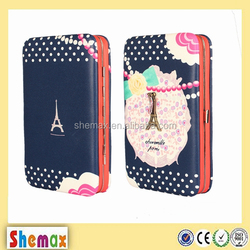 Lovely pattern design universal wallet case for iPhone 6 plus,Fancy cover for mobile phone