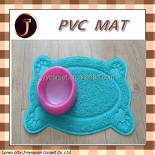 Paw Rectangle Pets Feet Mat Placemat PVC Radiating Dog Cats Sleep Feeding Pads