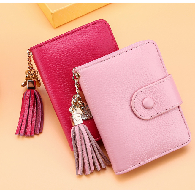 Beautiful womens pu leather credit card holder wallet