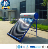 2017New High Quality Integrative No Pressure Portable Solar Water Heater for Home, Hotel, Apartment, Business