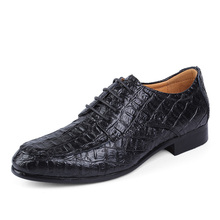 2016 New Fashion Crocodile Men Dress Shoes High Quality Leather Oxford Shoes for Men Office Business Shoes Plus size 38-50