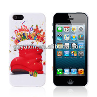 Top adult christmas gifts 2013,OEM Plastic Christmas Theme Santa Claus Case for iPhone 5