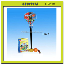 115 CM Cheapest toy set movable basketball stand with ball and inflator