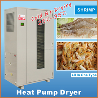 Heat pump hot air fish food drying machine/shrimp dryer oven/seafood drying oven