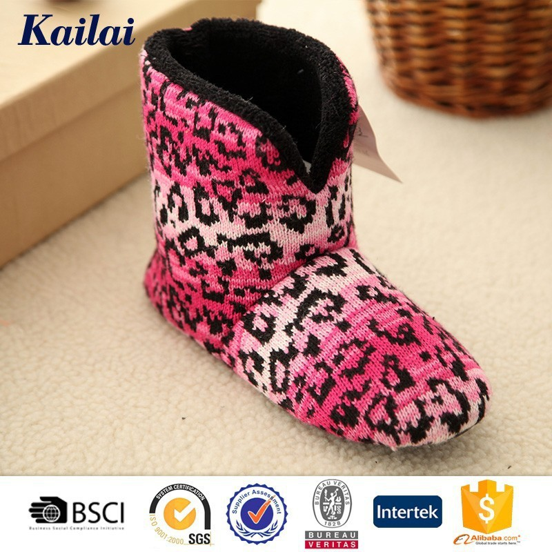 2016 handcrafted easy wear noble women knitting cashmere boots