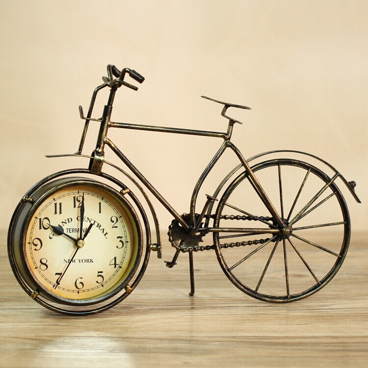 Unique metal biycle clock decorative show piece decor living room decorative