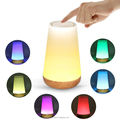 Kids' portable night light speaker, color changing wireless bedside light speaker lamp with alarm clock
