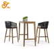 Rattan Wicker dining chairs and table garden set hotel outdoor patio furniture