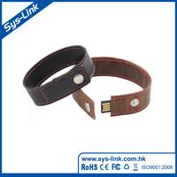 PU leather usb flash drive usb bracelet design