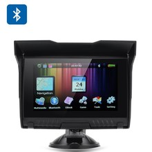 Waterproof Windows CE 6.0 DDR 128MB+4GB 800*480 pixels Motorcycle Gps Auto Navigation 5.0""