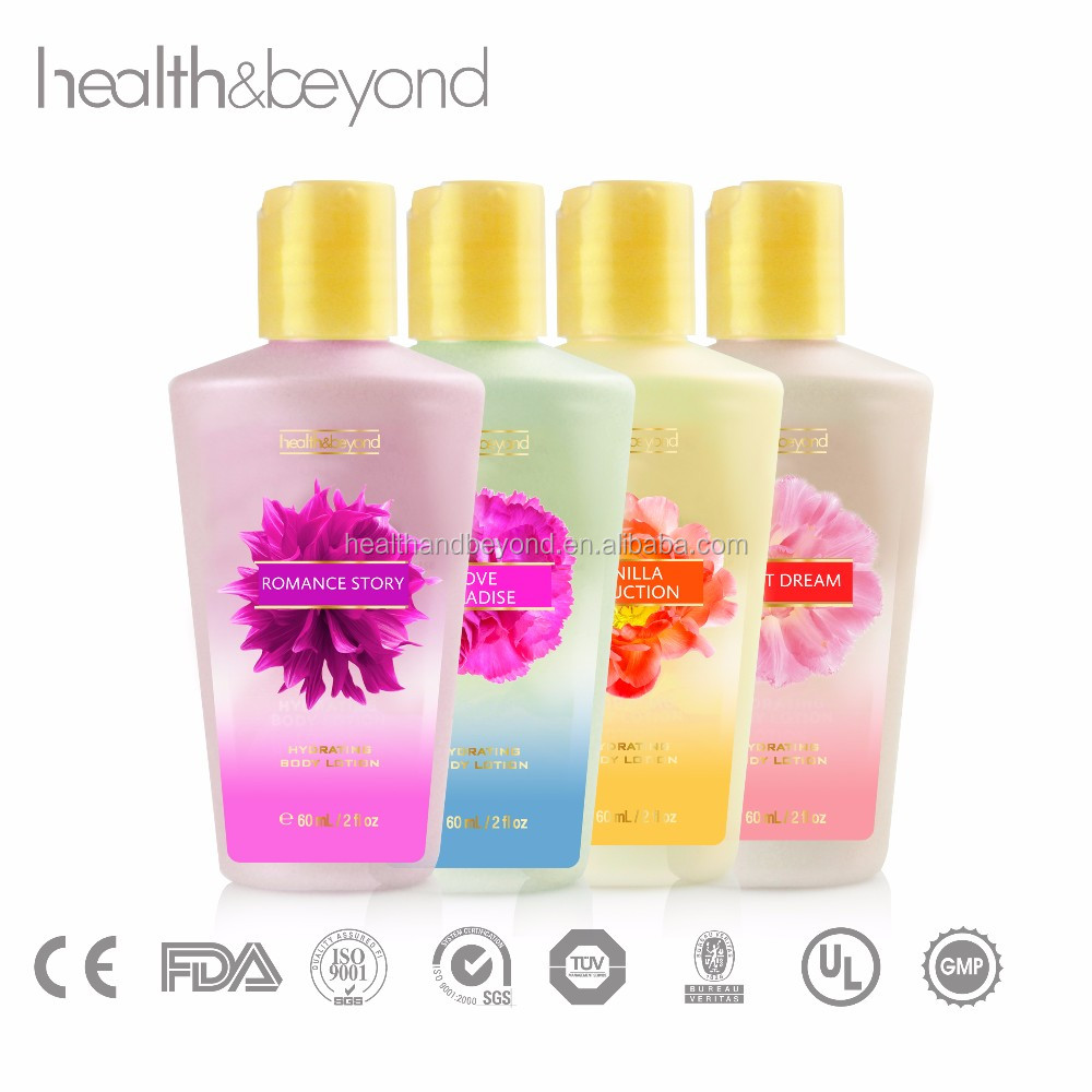 60ML mini travel size FDA approved perfume body lotion OEM brand name perfumes wholesale best body lotion