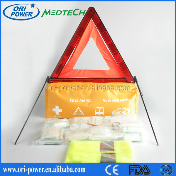 Wholesale Din13164 Germany CE FDA approved oem promotional emergency triangle kit
