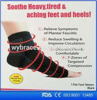 WY-H006 Sports Recovery Socks Copper Infused Foot Support Plantar Fasciitis Sleeve Compression Ankle Brace