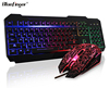 Cheaper USB Wired LED Backlit ergonomic gaming keyboard for computer