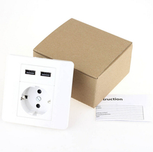 Very popular in the European Union convenient 2.1 double USB wall charger adapter socket