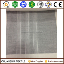 2015 new product 280cm width 100% polyester striped gauze curtain fabric