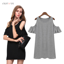 Off Shoulder dress shirt for women Summer Fashion girl dress casual cotton shirt short sleeve