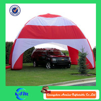 Red and white stripe inflatable tent, bubble tent/ inflatable car cover