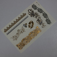 laser gold flash temporary body tattoo