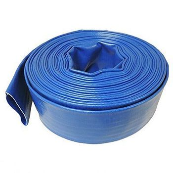 Blue Layflat PVC Water Delivery Hose - Discharge Pipe Pump