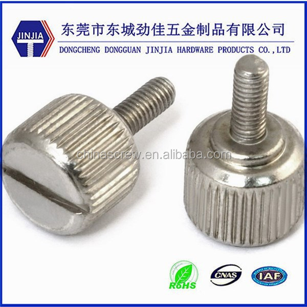 Dongguan fastener costom big head hand tighten screws