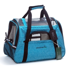 portable outdoor puppy pet dog travel carrier cages bag with fleece bed