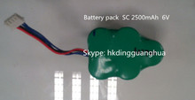 Battery packs Ni-MH SC 2500mAh 6V rechargeable battery for Ecovacs D-76 Robot Vacuum Cleaner