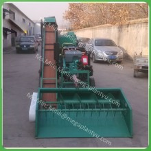 1T capacity automatic corn peeling and threshing machine for tractor