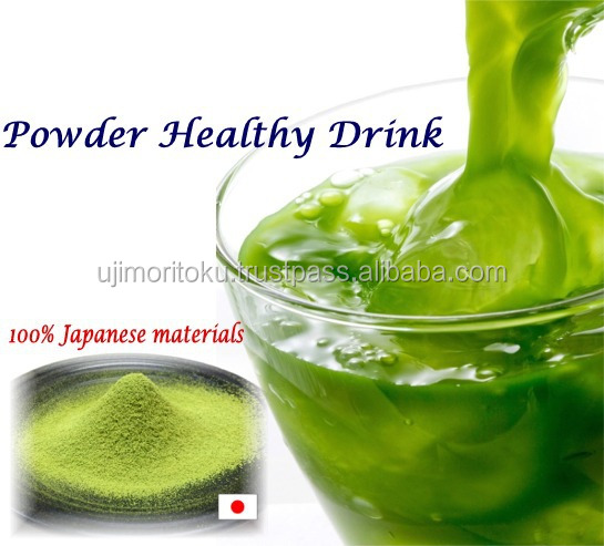 Japanese aojiru and green tea powder for health and wellness products