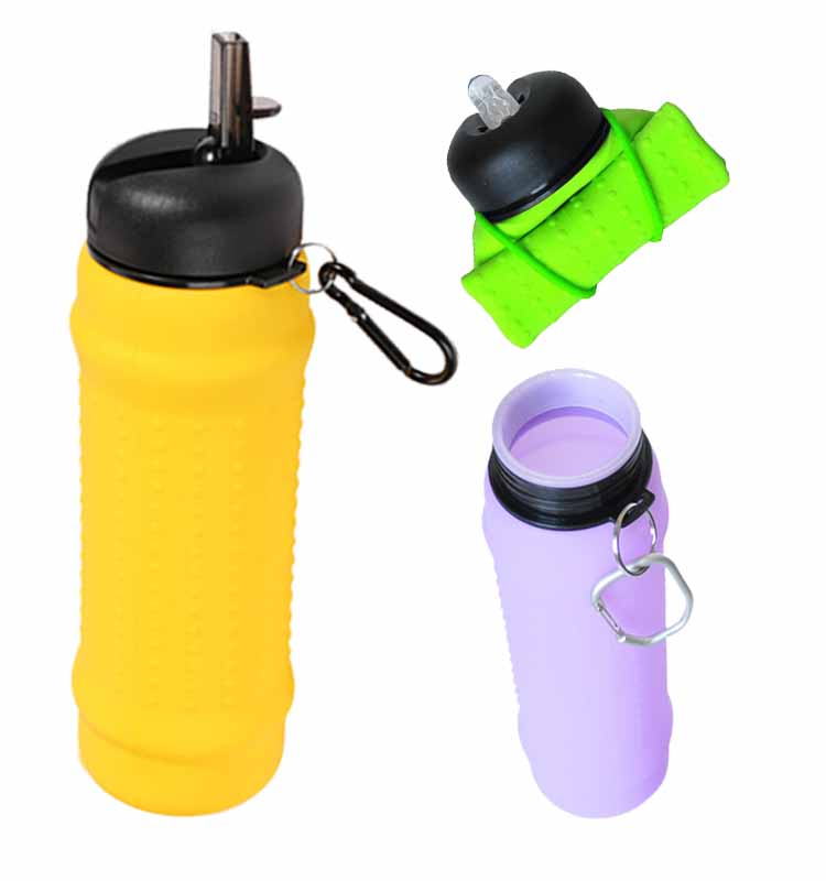 2017 silicon compressible bike foldable drinking water bottle
