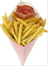 Foldable Take away French fries custom logo paper cone for food