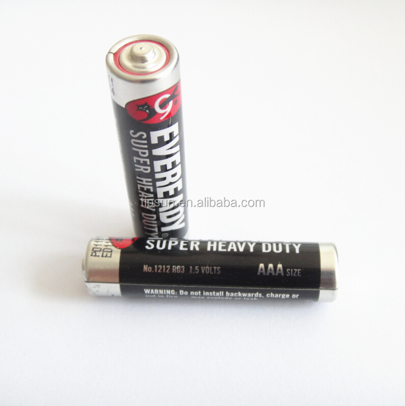 1.5V Eveready AAA R03 Super Heavy Duty battery