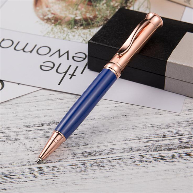 Luxury decorative metal roller pen office signature free ink pen metal gift pen for client