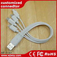 Micro USB Cable LED Lighting USB Data Charger Cable Sync Retractable Spring Coiled Cord for Samsung TCL Lenovo