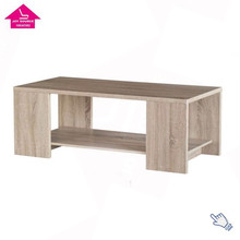Textured Wood Grain Brown Square Coffee Table