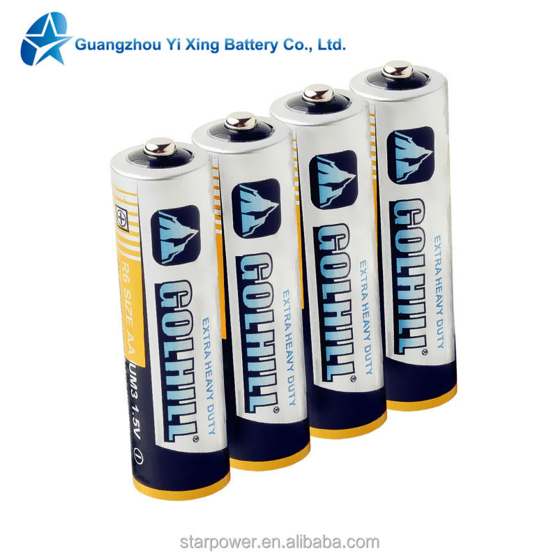 low price of dry battery R6C UM3 size AA 1.5V