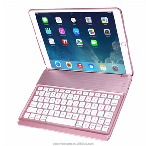 Tablet PC External Keyboard with Stand Holder Solid Polycarbonate Plastic Shell Back Case for iPad Pro 10.5
