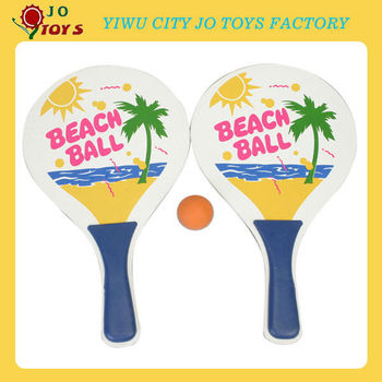 Wooden Cartoon Beach Racket With Customized Logo Printing