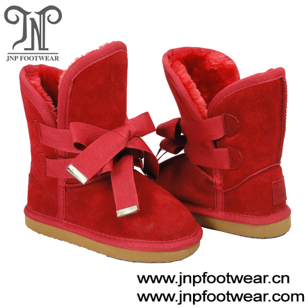 hot booties red suede shoes leather boots for babies with double laces