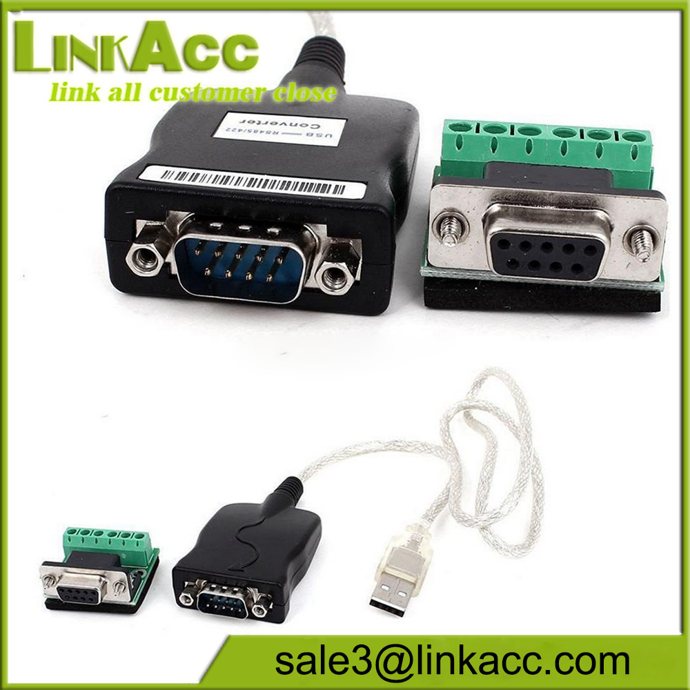 USB 2.0 to RS-485 RS-422 DB9 Serial Converter Adapter Cable
