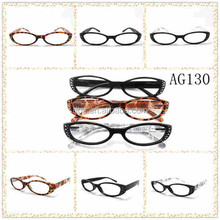 Fashion high quality pattern reading glasses with rhinestone